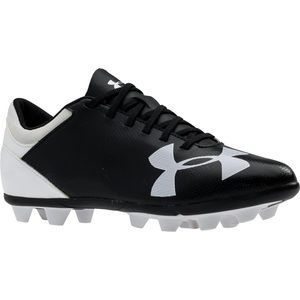 Under Armour Black/White Soccer Cleat - 12